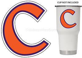Clemson Tigers 3 Cut Vinyl Decal Great For Yeti Style Cups For Sale Online Ebay