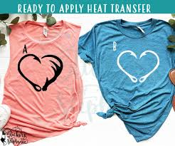 Iron On Transfer Or Sticker Decal S224 Fish Hook Deer Antler Heart Stickers By Stephanie