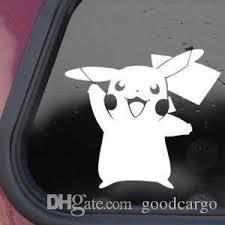 2020 Poke Pikachu Anime Car Sticker Decals Pocket Monster Pokemon Go Truck Window Wall Laptop Vinyl Decal Sticker Black White From Goodcargo 0 36 Dhgate Com