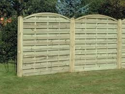 Fettes Fence Panels Include A Pressurised Arched Horizontal Fence Panel
