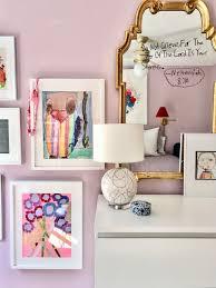 Girls Bedroom Lavender Red Gallery Wall Kids Artwork Mirror Emily A Clark