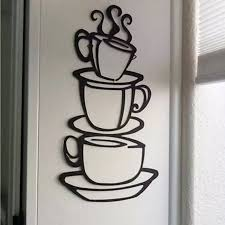 Personality 2017 Removable Diy Kitchen Decor Coffee House Cup Decals Vinyl Wall Sticker 420 Vinyl Wall Stickers Wall Stickerkitchen Decoration Aliexpress