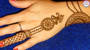 mehndi designs back hand easy and simple