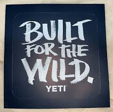 Yeti Built For The Wild Period Sticker Decal Blue In 2020 Custom Decal Stickers Moon Decal Yeti Rambler Decal