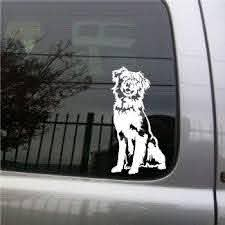 Amazon Com Australian Shepherd Dog Vinyl Decal Small Automotive