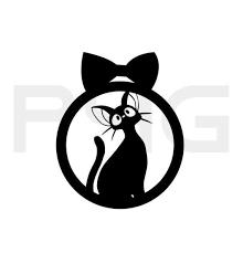 Jiji Kiki S Delivery Service Cat Decal Sticker Jiji Cat Etsy In 2020 Cat Decal Cat Decal Stickers Kiki S Delivery Service Cat