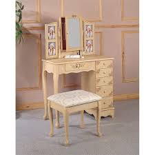 makeup vanity table set with mirror
