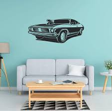 Amazon Com Car Wall Decal Car Wall Sticker Car Wall Art Multiple Sizes Wall Decals For Boys Room Basement Wall Sticker Wall Stickers For Kids Wall Stickers For Bedroom Boys Car Sticker Handmade
