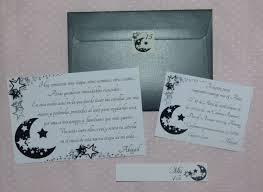60 Invitaciones Tarjetas Luna Estrellas B N Sobre Metalizado