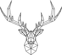 Amazon Com Vinyl Wall Art Decal Geometric Deer Head 23 X 26 Home Decor For Living Room Bedroom Boys Room Peel And Stick Stencil Sticker Decals 23 X 26