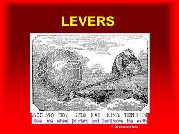 LEVERS ~ Archimedes. Introducing… The Lever A lever includes a stiff  structure (the lever) that rotates around a fixed point called the fulcrum.  fulcrum. - ppt download