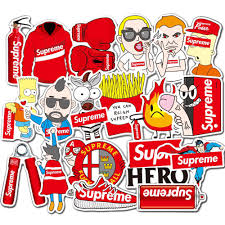 50 Supreme Graffiti Sticker Vinyl Decal Luggage Laptop Non Repetitive Waterproof Shopee Malaysia