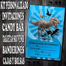 Kit Imprimible Jurassic World Personalizado Cumpleanos Candy