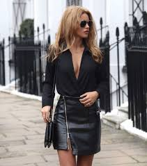 18 leather zip skirt outfits for this