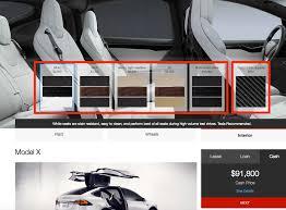 tesla bundles model x interior options