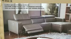 leather power reclining sectional