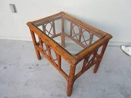 wood glass top tea tray style coffee