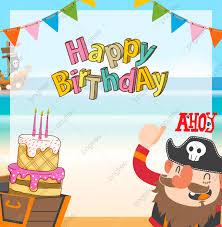لطيف القراصنة كرتون خلفيات عيد ميلاد بديع مغامرة مرساة Png