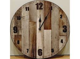 rustic wooden country wall clock