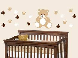 Pin By The Gentle Nursery On Nursery Design Nursery Wall Decals Boy Teddy Bear Nursery Bear Nursery