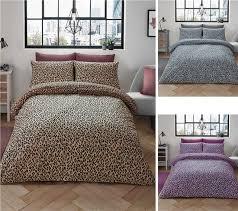 leopard print pink duvet sets quilt