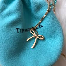 tiffany bow in 18k rose gold mini size