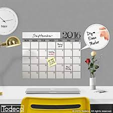 Amazon Com Modern 2019 Dry Erase Wall Decal Calendar W Dry Erase Marker A Todeco Product Office Products