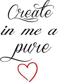 Create In Me A Pure Heart Wall Lettering Mural Vinyl Decal Bible Verse 13x18 Ebay