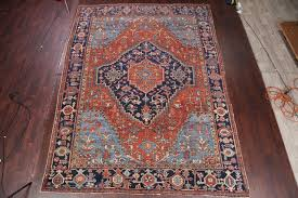 hand knotted persian rug orange