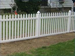 White Pvc Picket Fence Plastic Vinyl Picket Fence Gate