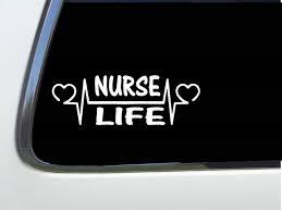 Amazon Com Thatlilcabin Nurse Life Heartline As842 8 Sticker Nurse Decal Automotive