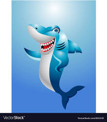 funny shark cartoon royalty free vector