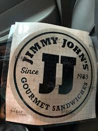 Friend Of Mine Made Me A 12x12 Jjs Vinyl Decal And Now I Don T Know What To Do With It Jimmyjohns