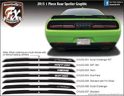 Dodge Challenger Stripes Racing Stripes R T Graphics Streetgrafx