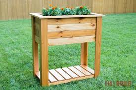 diy raised planter box plans