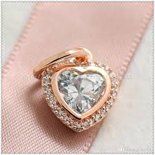 sparkling love knot ring rose gold