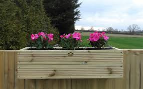 Large Over Fence Panel Balcony Hanging Wooden Planter Windowbox Decking Trough
