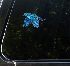 The Decal Store Com By Yadda Yadda Design Co Clr Car Bluebird In Flight Stained Glass Style Opaque Vinyl Ca