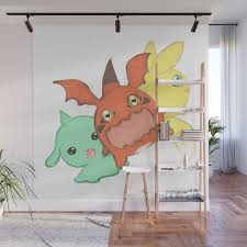 Digimon Baby Wall Mural By Alienitynera Society6