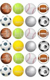 24 Futbol Baloncesto Golf Tenis Beisbol Comestible Torta Topper