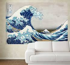 The Great Wave Off Kanagawa Wall Mural Tenstickers