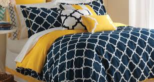 inspiring blue and yellow bedspread