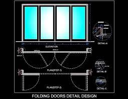 folding door design detail autocad