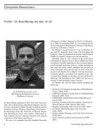 Dr. Brad Murray, BA, MSc, AT, DC - Journal of the Canadian ...