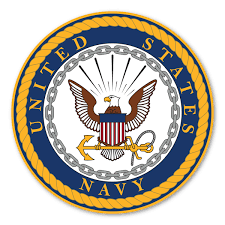 Navy Large Seal Sticker Magnet America