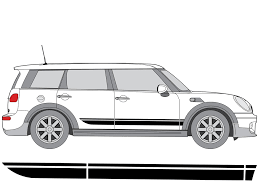 Side Stripe Decal Kit For Mini Clubman F54 2016 2019