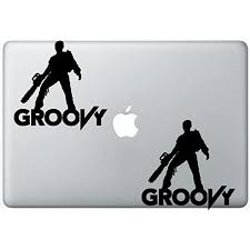 Amazon Com Ash Evil Dead Groovy Army Of Darkness Flashdecals0783 Set Of Two 2x Decal Sticker Laptop Ipad Car Truck Computers Accessories