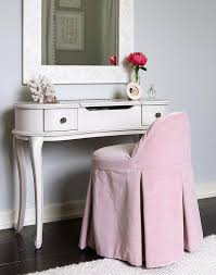 Lucie Vanity With Maxine Vanity Stool Transitional Girl S Room