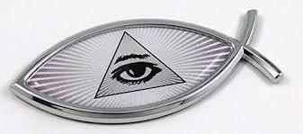 Jesus Fish Emblems Car Chrome Decals