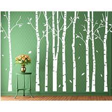 Buythrow Large Tree Wall Decals For Living Room Birch Tree Wall Decal Stickers Nursery With Leacves 86x120 Inches Walmart Com Walmart Com